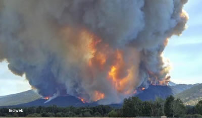 Fire burning in Montana